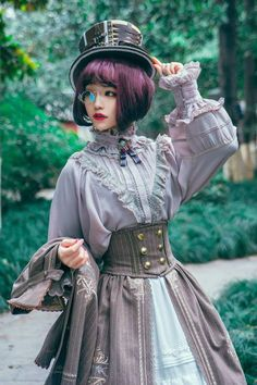 Surface Spell -Unfinished Book- Vintage Classic Lolita Blouse Version),Lolita Top, Steampunk DIY Decor and Clothing Projects Estilo Harajuku, Harajuku Mode, Harajuku Fashion, Kawaii Fashion, Cute Fashion, Rock Fashion, Fashion Vintage, Fashion Tips, Moda Steampunk