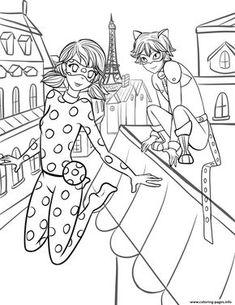Miraculous Ladybug Disegni Da Stampare E Colorare Marinette E Chat