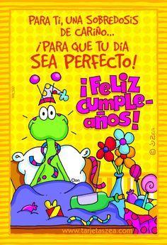 tarjetas de cumpleaños para un hijo - Buscar con Google Spanish Birthday Wishes, Birthday Wishes For Friend, Happy Birthday Messages, Happy Birthday Quotes, Bday Cards, E Cards, Birthday Greeting Cards, Birthday Greetings, Happy Wishes