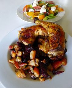 My Bariatric Life shares one of her 30 minutes meals with us, a healthy recipe of South African smoke chicken with root vegetables and a fresh heirloom tomato salad. (Click the photo & follow to the website for the recipe) #HealthCentral #Healthy #Recipe