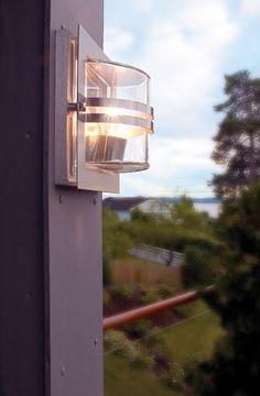 Bern Stainless Steel Wall Light by Norlys @peterreidlighting #outdoorwalllight
