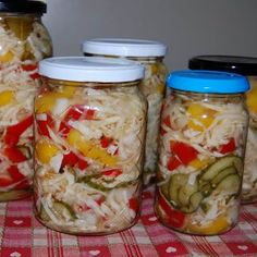 Egy finom Csalamádé VI. ebédre vagy vacsorára? Csalamádé VI. Receptek a Mindmegette.hu Recept gyűjteményében! Canning Recipes, My Recipes, Favorite Recipes, Croatian Recipes, Hungarian Recipes, Hungarian Cuisine, Fermented Foods, Pickles, Jelly
