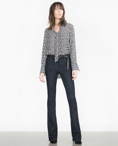Image 1 of TIE-UP BLOUSE from Zara