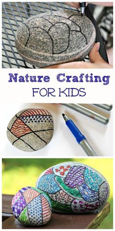 Nature Craft for Kids: Zentangle Rocks All you need is a rock and some markers for a beautiful & relaxing craft project with the kids! Nature artAll you need is a rock and some markers for a beautiful & relaxing craft project with the kids! Kids Crafts, Craft Projects For Kids, Crafts For Kids To Make, Crafts For Girls, New Crafts, Diy For Girls, Summer Crafts, Art For Kids, Arts And Crafts