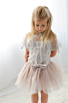 Tutu Du Monde Enchanted Tutu in Mist - very cute flower girl dress