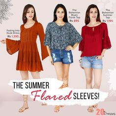 Add a Little Flare to Your Tops with our Latest Flared Sleeve Apparel Collection! #20dresses #20d #onlineshopping #online #ecommerce #new #newin #flare #summerflare #flaredsleeve #flaredtops #tops #topcollection #flaresleeve #bellsleeve #bohemian  #instapic #instalike #instalove #picoftheday #instafollow by 20dresses