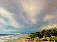 "Daily Paintworks - ""Prelude to Tropical Storm Ana"" - Original Fine Art for Sale - © Debbie Yacenda"