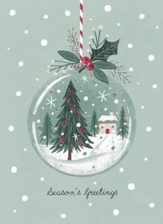 Leading Illustration & Publishing Agency based in London, New York & Marbella. Christmas Scenes, Cozy Christmas, Christmas Images, Christmas Design, All Things Christmas, Vintage Christmas, Christmas Holidays, Christmas Crafts, Christmas Ornaments