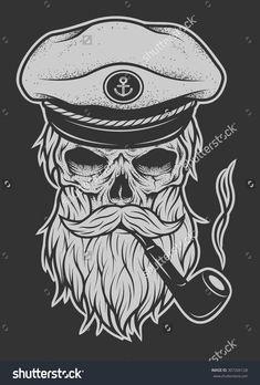 tobacco pipe sailor skyll tattoo – Googl… - Top Of The World Beautiful Tattoos, Cool Tattoos, Arm Tattoo, Sleeve Tattoos, Pirate Skull Tattoos, Pirate Hat Tattoo, Maritime Tattoo, Brust Tattoo, Sailor Tattoos
