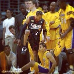 This #FlashbackFriday, we remember Allen Iverson's game 1 masterpiece against the Lakers in the 2001 Finals. The Answer had 48 pts. #NBAFinals