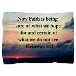 HEBREWS 11:1 Pillow Sham Encourage all with our awe-inspiring Hebrews 11:1 designs on beautiful Tees, Apparel, and gifts at Heavenly Blessings. This uplifting Hebrews 11:1 design is the perfect gift for birthdays, holidays, or any occasion. Now faith is being sure of what we hope for and certain of what we do not see.  All designs can be customized to add names, dates, events, or any verse/quote. Contact us with any requests. http://www.cafepress.com/heavenlyblessings/11726646  #Hebrews111…