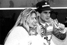Ayrton Senna e Adriane Galisteu.