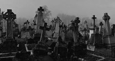 Image about black and white in cemetery by Lilian