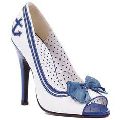 """511-ANCHOR 5"""" Pump White/Blue Size 7 Ellie Shoes http://www.amazon.com/dp/B0091KEZJM/ref=cm_sw_r_pi_dp_JdYqub0KXVBFZ"""