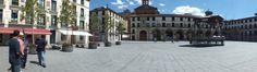 Panorámica de la Plaza del Ayuntamiento. Tudela, Navarra. Spain.  [By Valentín Enrique].