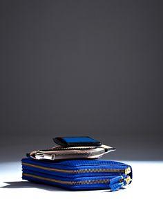 Dries Van Noten Contrast Colour Card Holder, Rick Owen Zip Wallet, Comme Des Garcon Cowhide Double Zip Wallet