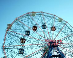Carinival photograph Ferris wheel Wonder Wheel Coney by pixamatic, $25.00