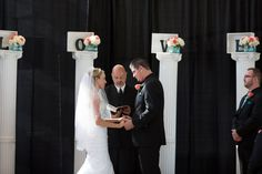 Kristina and Donald's Ross Ade Stadium Wedding by Michael Meeks Photography. Looking for a gorgeous Blue and Coral Wedding? You've found this!