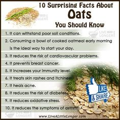 Natural health facts Amazing Facts Of Oats For More: Health Facts, Health And Nutrition, Health And Wellness, Health Care, Fruit Benefits, Health Benefits, Home Remedies, Natural Remedies, Healthy Tips