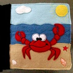 Tiffany's Animal Quiet Book - Crab page...make his claws move, or his arms