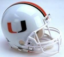 Miami Hurricanes Riddell Full Size Authentic Helmet