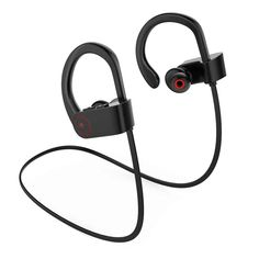 B-sea Wireless Bluetooth Headphones, Noise Cancelling Sport Headset with Mic and Secure Ear hooks Bluetooth Ear Phones, Bluetooth Gadgets, Running Headphones, Music Headphones, In Ear Monitors, Noise Cancelling, Headset, Hooks, Sport
