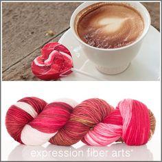 Expression Fiber Arts, Inc. - I HEART COFFEE SUPERWASH DEWY DK, $23.00 (http://www.expressionfiberarts.com/products/i-heart-coffee-superwash-dewy-dk.html)