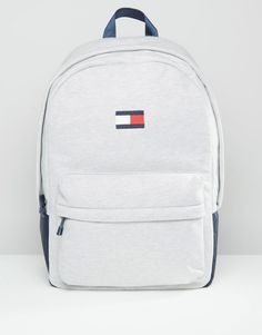 Image 1 of Tommy Hilfiger Exclusive Flag Backpack in Gray
