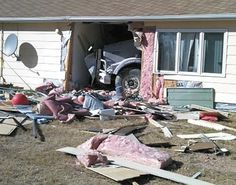A semi slams 60 feet into a North Dakota school. Several students suffered minor injuries.
