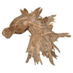 Horse Teak Statue  Product: Horse statue Construction Material: Reclaimed teak wood    Color: Natural      Dimensions: 36 H x 13 W x 33 D          Cleaning and Care: Remove dust with a soft, lint-free cloth. Brush or wipe with furniture oil. Return Policy: This item is final sale and cannot be returned