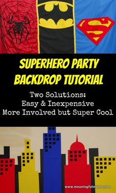 "By now I hope you have seen my other ideas for hosting a superhero party. I will provide links at the end of this post just in case you haven't seen these yet. They should help you in all of your superhero pursuits. The next post I bring you in my superhero party tutorials contains my ideas about how to create a superhero backdrop. The superhero food table is what… <a href=""http://meaningfulmama.com/2014/02/create-superhero-backdrop.html"">{Read More}</a>"
