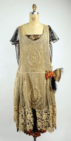 20s, lace pinafore, Boué Sisters dress