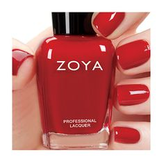 Zoya Janel - Janel by Zoya can be best described as a deep red cream that has a warm undertone.  Color Family - Red ; Finish - Cream ; Intensity - 5 ( 1 = Sheer - 5 = Opaque ) ; Tone - Warm.