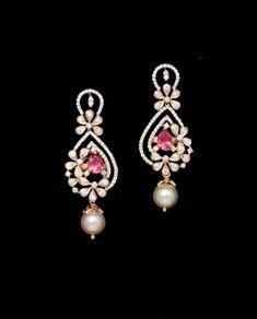 Diamond Solitaire Earrings H I – Modern Jewelry Jewelry Design Earrings, Gold Earrings Designs, Designer Earrings, Jewellery Designs, Gold Designs, Vintage Jewellery, Diamond Solitaire Earrings, Diamond Jewelry, Diamond Stud