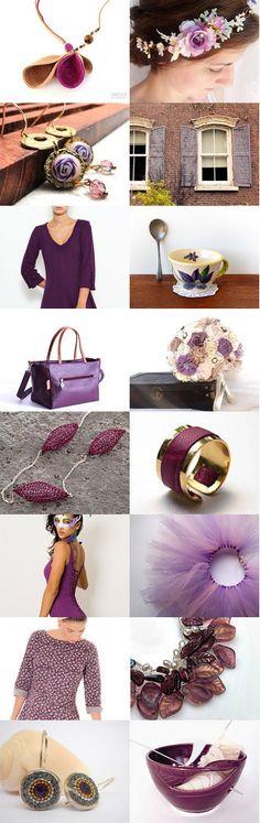 Purple midsummer night dream  by OJ Finkel on Etsy--Pinned with TreasuryPin.com