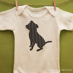 Pit bull onesie!!! A little Burke will own this someday.