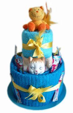 Towel Fakecake Cat