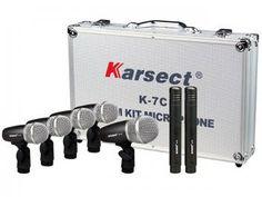 kit de Percussão 7 Peça - Karsect K-7C 7