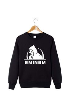 2016 Winter fashion mens hoodies and sweatshirts eminem hoodies Round collar O neck cotton leisure fashion hoodies S - XXL#eminem hoodies