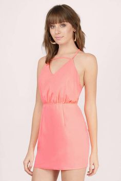"Search ""Isla Neon Coral Bodycon Dress"" on Tobi.com! this cami short mini strappy dress in bright coral peach is the neon beauty you need in your closet! its great for parties, dances, graduation, or even dinner dates! You'll definitely stand out in the crowd! #ShopTobi #fashion cute sweet timeless classy cheap affordable save money for women girls teens dresses wedding rehearsal bride bridal stylish fashionable elegant modest maxi midi mini long sexy gorgeous shop buy special occasion dance…"