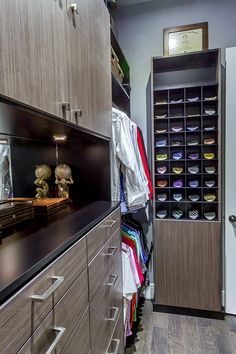 Meet with a designer who will guide you through personalizing your custom closet. Walk-ins, reach-in and luxury closet design and install. Custom Walk In Closets, Custom Closet Design, Closet Designs, Condo Bedroom, Closet Bedroom, Closet Space, Shoe Closet, Closet Storage, Closet Organization