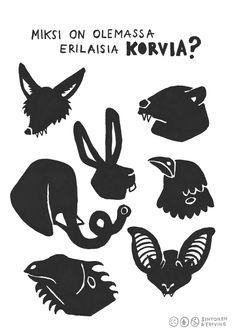 Kortti Korva on mielenkiintoinen elin. Teaching Music, Activities For Kids, Diy And Crafts, Homeschool, Education, Learning, Animals, Character, Music Lessons
