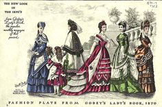 Fashions for the 1870s.