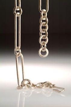 gloria carlos hand forged silver chain