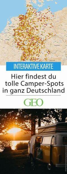 Camper-Stellplätze in Deutschland: Euer Wohnwagen ist startklar, jetzt fehlt nur noch ein Ziel? Unsere interaktive Stellplatzkarte zeigt euch schöne und günstige Spots für eine entspannte Zeit im Freien