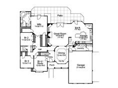 Traditional House Plan First Floor - 007D-0113 | House Plans and More