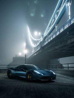 A Great shot of Matte Black Ferrari 458 Italia in London. For All Tuning Lover: http://www.tuningcult.com