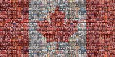 The Changing Face Of Canada Celebrated in a 2010 Canadian Flag Mosaic Best Weighted Blanket, Social Studies Curriculum, Marketing Conferences, Heavy Blanket, Canada Images, Photo Mosaic, Canada Day, We Are The World, Best Cities