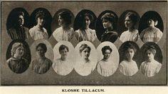 1907-08 Klosche Tillacum.  From the 1909 Beaver (UO Yearbook).  www.CampusAttic.com