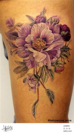Anna Belozyorova Tattoo - Flowers